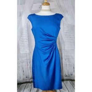 Ralph Lauren Blue Ruched Dress